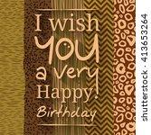 happy birthday greeting card.... | Shutterstock .eps vector #413653264