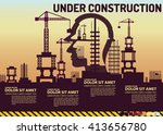 building under construction...   Shutterstock .eps vector #413656780