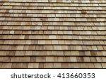 Wooden Roof Tile Background