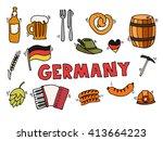 germany travel set vector... | Shutterstock .eps vector #413664223