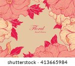 hand drawn floral pattern | Shutterstock .eps vector #413665984