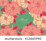 hand drawn floral pattern | Shutterstock .eps vector #413665990