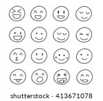collection of freehand drawing... | Shutterstock .eps vector #413671078