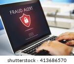 Small photo of Fraud Scam Phishing Caution Deception Concept