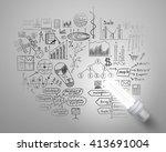 bright idea for plan | Shutterstock . vector #413691004