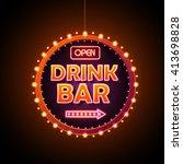 Drink Bar Neon Sign