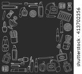 vector doodle set of perfume... | Shutterstock .eps vector #413702356