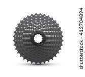 bike cassette | Shutterstock .eps vector #413704894