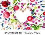 Wreath Frame Heart With Roses ...