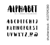 hand drawn vector alphabet ... | Shutterstock .eps vector #413709280