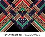 geometric ethnic oriental... | Shutterstock .eps vector #413709478