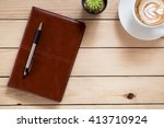 office stuff with leather...   Shutterstock . vector #413710924
