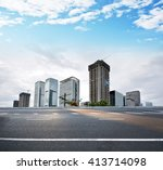cityscape with empty road | Shutterstock . vector #413714098