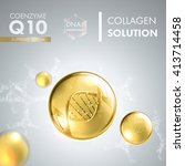 coenzyme q10. supreme collagen... | Shutterstock .eps vector #413714458