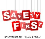Safety First  Red Vector Safet...