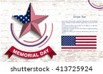 memorial day. star. abstract... | Shutterstock .eps vector #413725924