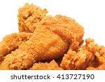 close up fried chicken | Shutterstock . vector #413727190