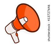 colorful red megaphone or... | Shutterstock .eps vector #413727646