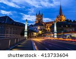 Lausanne Cathedral At Night....