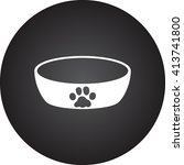 pet food bowl sign simple icon...   Shutterstock .eps vector #413741800
