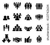 people icon set | Shutterstock .eps vector #413742634