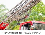 Small photo of Aerial Ladder Fire Truck, rescue