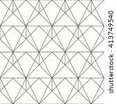 seamless geometric. vector... | Shutterstock .eps vector #413749540