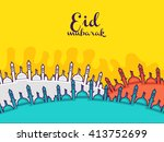 vector illustration of eid... | Shutterstock .eps vector #413752699