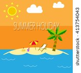 summer holidays in the beach  | Shutterstock .eps vector #413754043