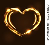 Gold Heart Light Tracing Effec...