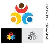 concept vector logo icon of... | Shutterstock .eps vector #413761540