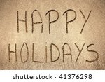 Happy Holidays Handwritten In...