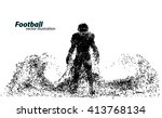 silhouette of a football player ... | Shutterstock .eps vector #413768134