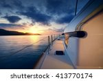yacht   catamaran in the... | Shutterstock . vector #413770174