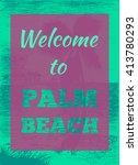 vector tropical summer...   Shutterstock .eps vector #413780293