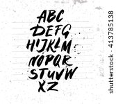 handwritten alphabet on white... | Shutterstock .eps vector #413785138