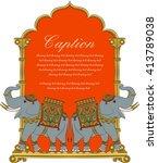 elephant in indian art style 5 | Shutterstock .eps vector #413789038