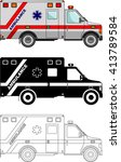 different kind ambulance cars... | Shutterstock .eps vector #413789584