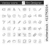 art designer  vector icons. | Shutterstock .eps vector #413792014