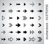 black arrow icons set | Shutterstock .eps vector #413792950