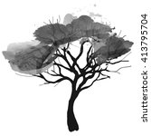 watercolor vector tree | Shutterstock .eps vector #413795704