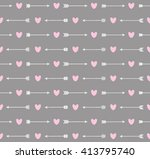 cute seamless pattern with... | Shutterstock .eps vector #413795740