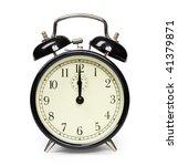 alarm clock isolated on white   Shutterstock . vector #41379871