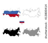 russia country black silhouette ... | Shutterstock . vector #413800414