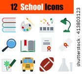 flat design education icon set...