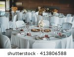 table serving for special day | Shutterstock . vector #413806588