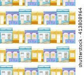 old colorful house set.... | Shutterstock . vector #413808964