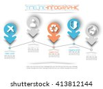 timeline infographic new style  ... | Shutterstock .eps vector #413812144