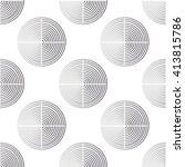 grey circles on white... | Shutterstock .eps vector #413815786