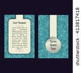 vector set of summer sea blue... | Shutterstock .eps vector #413817418